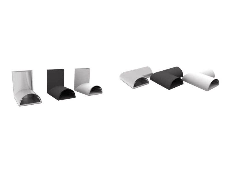 HAGOR L+C ADAPTER - Kabelführungs-Eckenadapter-Set - Silber