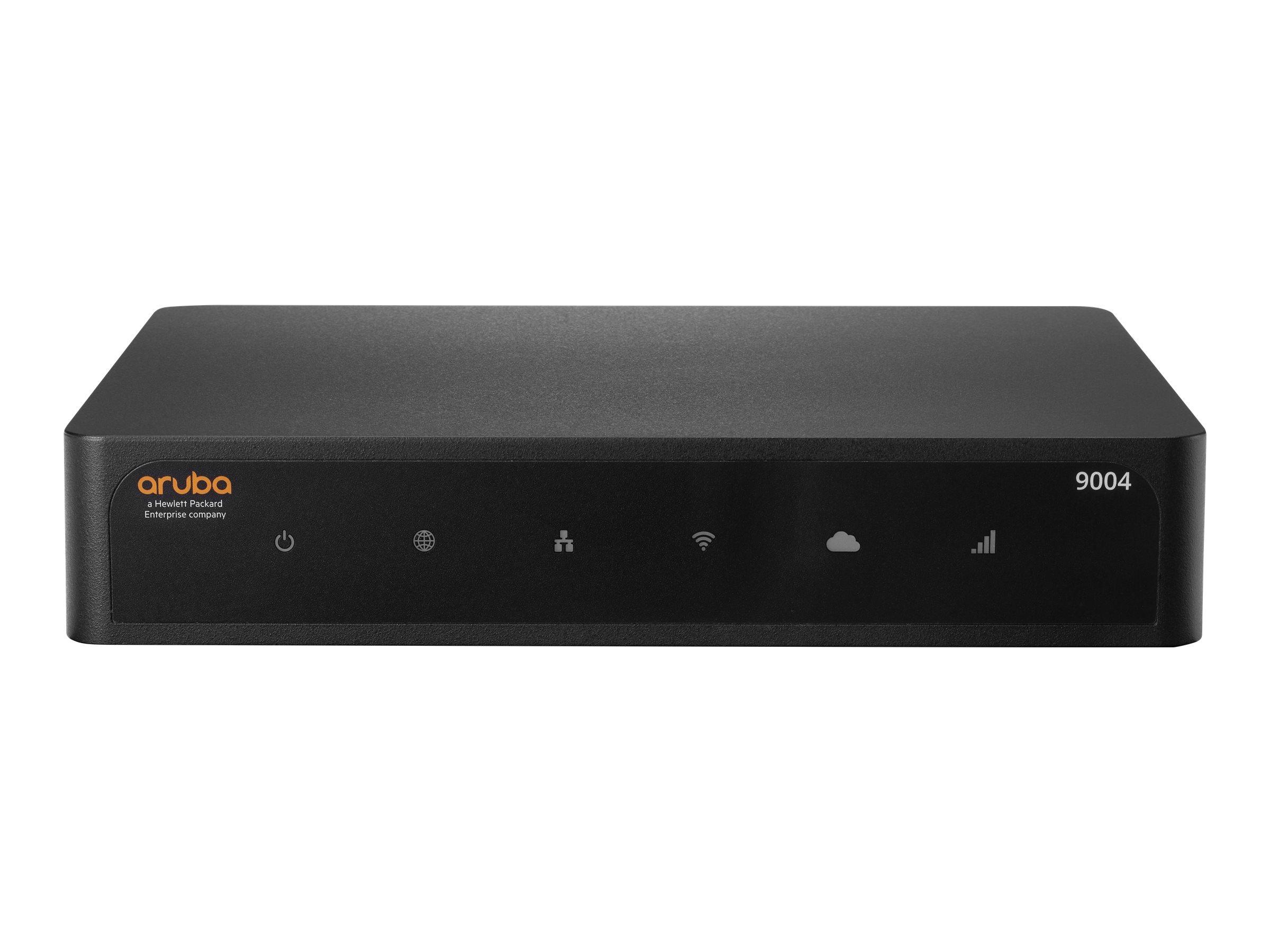 HPE Aruba 9004 (RW) - Gateway - 4 Anschlüsse - GigE, ZigBee, NFC, Bluetooth 5.0 - ZigBee, NFC, Bluetooth - BTO