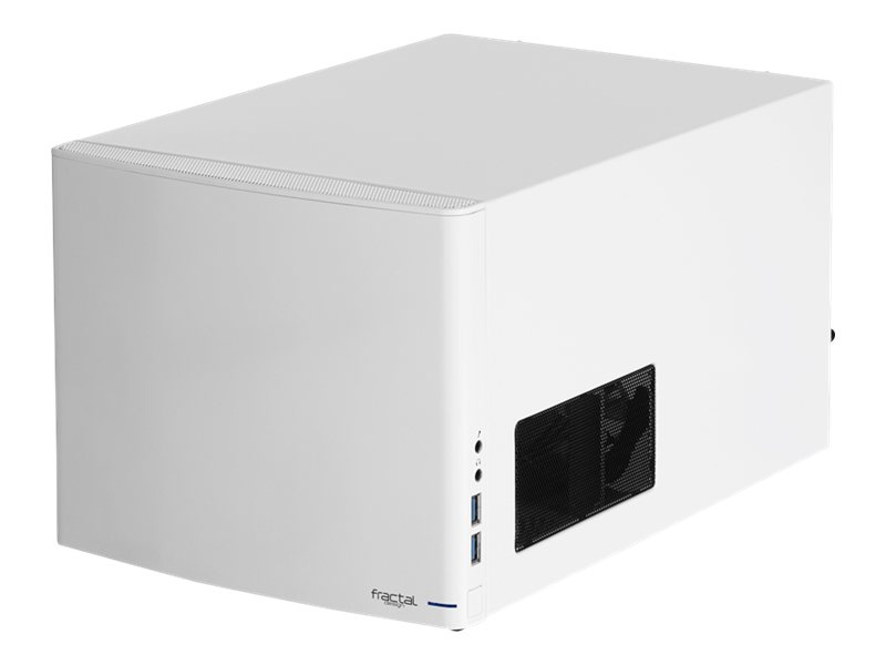 Fractal Design Node 304 - Desktop - Mini-ITX - ohne Netzteil ( ATX ) - weiss - USB/Audio