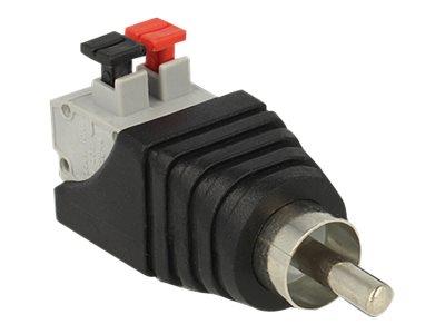 DeLOCK - Audio-Adapter - 2-polige Klemmleiste (M) bis RCA (M)