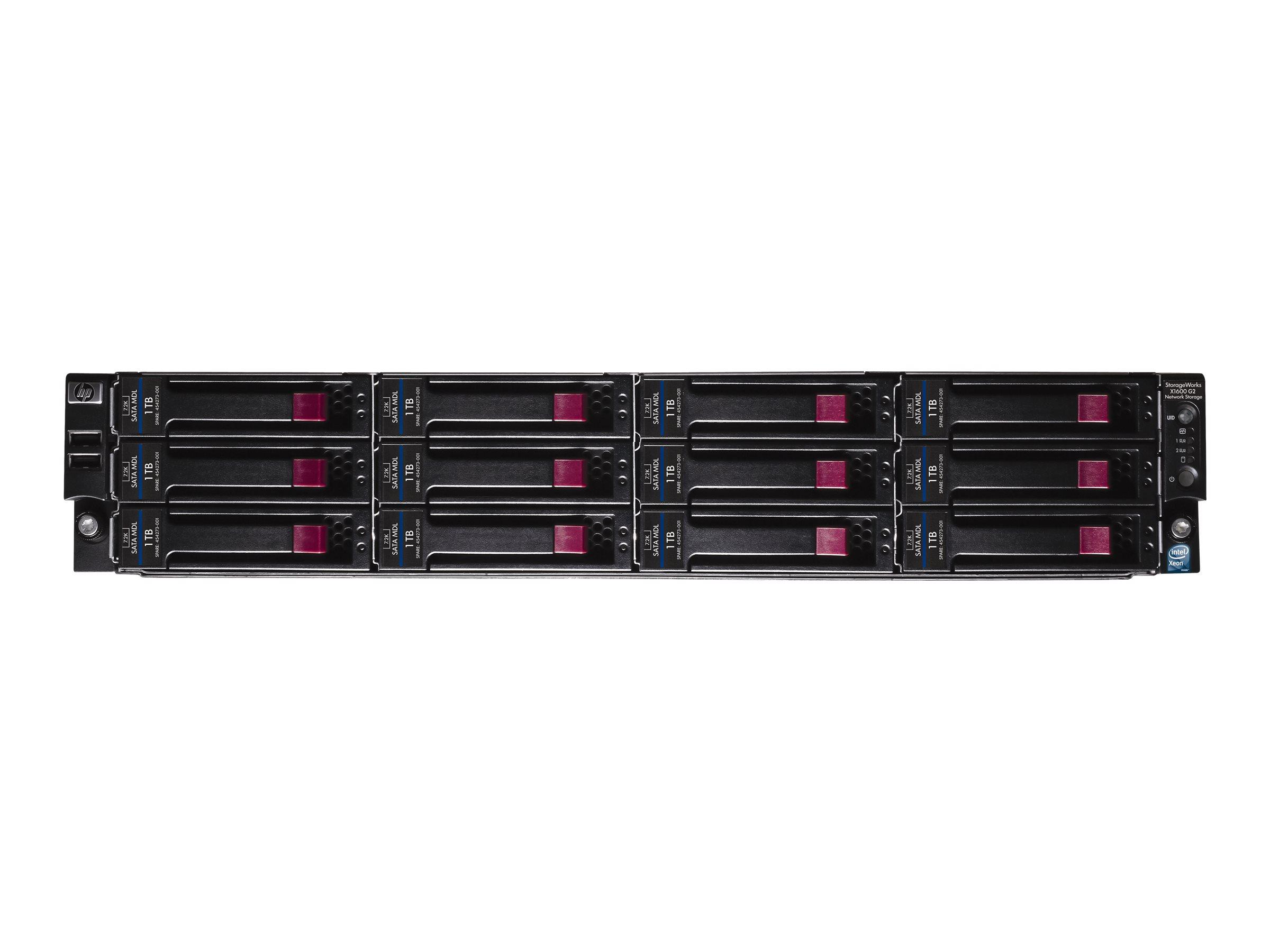 [Wiederaufbereitet] HPE Network Storage System X1600 G2 - NAS-Server - 12 Schächte - 24 TB - Rack - einbaufähig