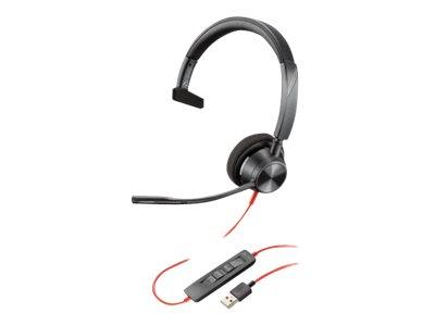 Poly - Plantronics Blackwire 3310 - Microsoft Teams - 3300 Series - Headset - On-Ear