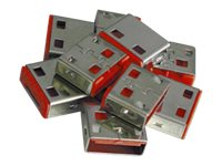 Lindy USB Port Blocker - USB-Portblocker - Rot (Packung mit 10)