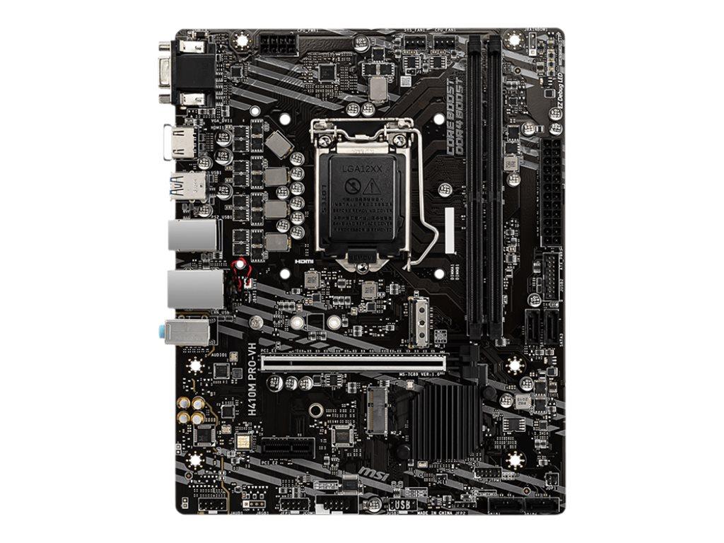 MSI H410M PRO-VH - Motherboard - micro ATX - LGA1200-Sockel - H410 Chipsatz - USB 3.2 Gen 1