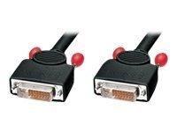 Lindy Super Long Distance - DVI-Kabel - Dual Link - DVI-D (M) bis DVI-D (M) - 10 m - Daumenschrauben
