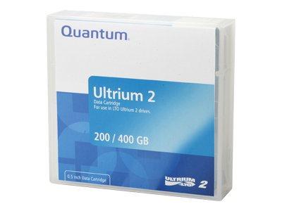 Quantum - LTO Ultrium 2 - 200 GB / 400 GB - Mit Strichcodeetikett - lila