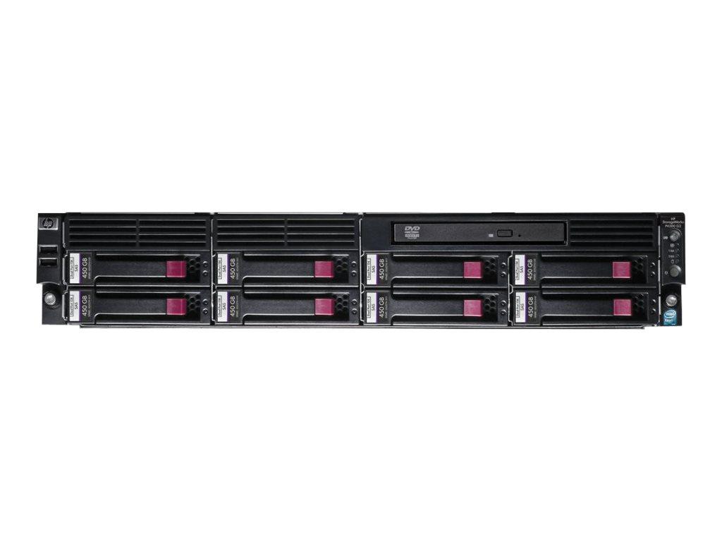 HPE StorageWorks P4300 G2 SAS Storage System - Festplatten-Array - 3.6 TB - 8 Schächte (SAS) - HDD 450 GB x 8 - DVD-ROM