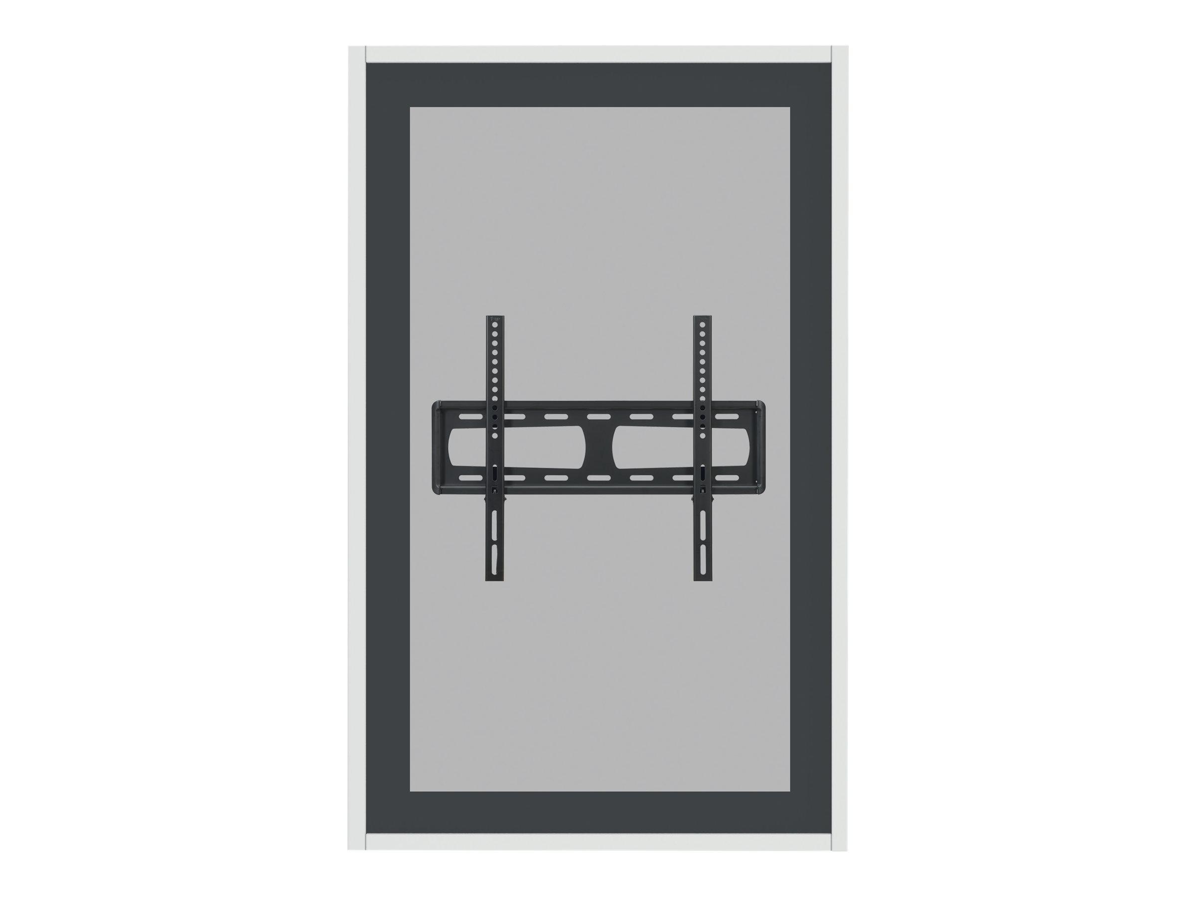 HAGOR HAG-BR-1 Series - Gehäuse für flat panel - ESG-Sicherheitsglas, Gipskartonplatte - weiss, RAL 9010 - Bildschirmgrösse: 190