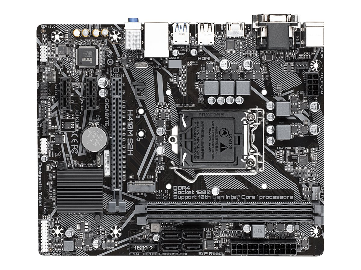 Gigabyte H410M S2H - 1.0 - Motherboard - micro ATX - LGA1200-Sockel - H410