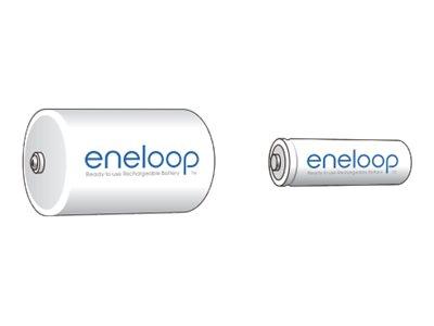 Panasonic eneloop BQ-BS1E/2E - Batterieadapter 2 x D