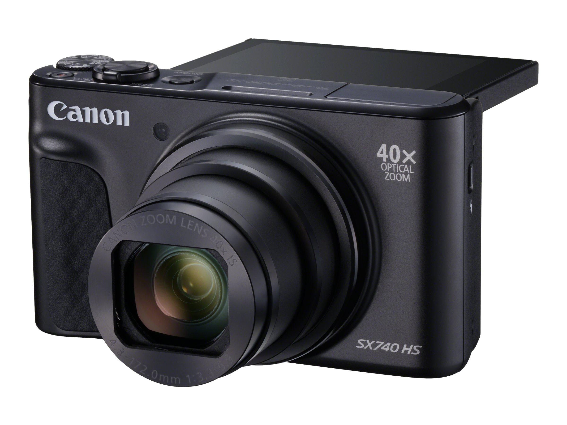 Canon PowerShot SX740 HS - Digitalkamera - Kompaktkamera - 20.3 MPix - 4K / 30 BpS - 40x optischer Zoom