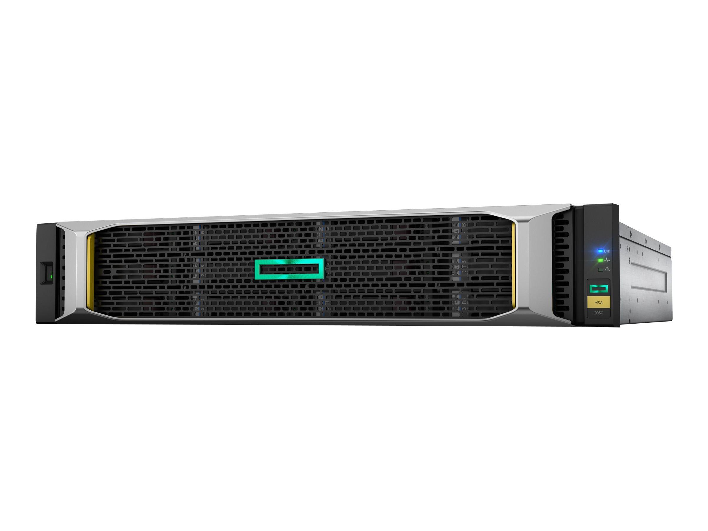 HPE Modular Smart Array 2050 SAS DC Power LFF Storage - Festplatten-Array - 12 Schächte (SAS-3) - SAS 12Gb/s (extern) - Rack - e