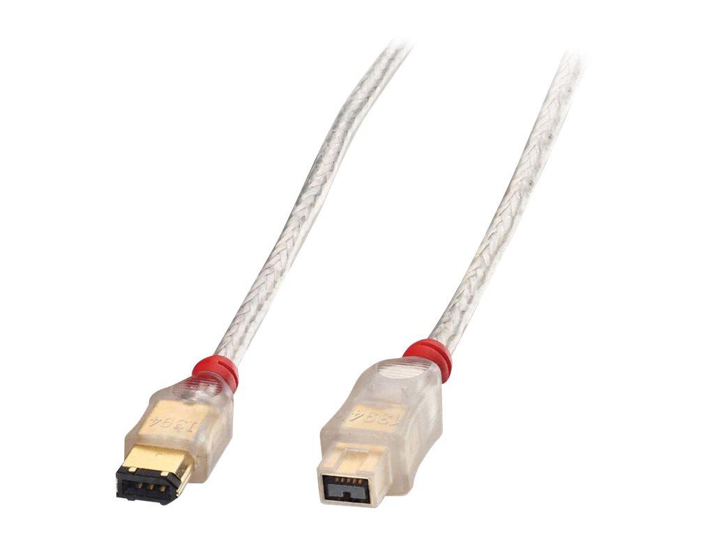 Lindy Premium - IEEE 1394-Kabel - FireWire, 6-polig (M) bis FireWire 800 (M) - 3 m - geformt - durchsichtig