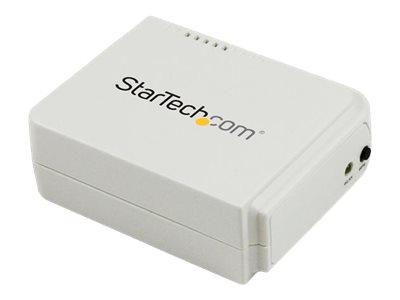 StarTech.com 1-Port Wireless N USB 2.0 Network Print Server - 10/100 Mbps Ethernet USB Printer Server Adapter - Windows 10 - 802