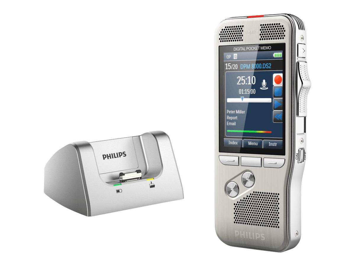 Philips ACC8120 - Docking Station für digitaler Sprachrekorder - für Philips LFH2210; Pocket Memo DPM7200, DPM7700, DPM8000