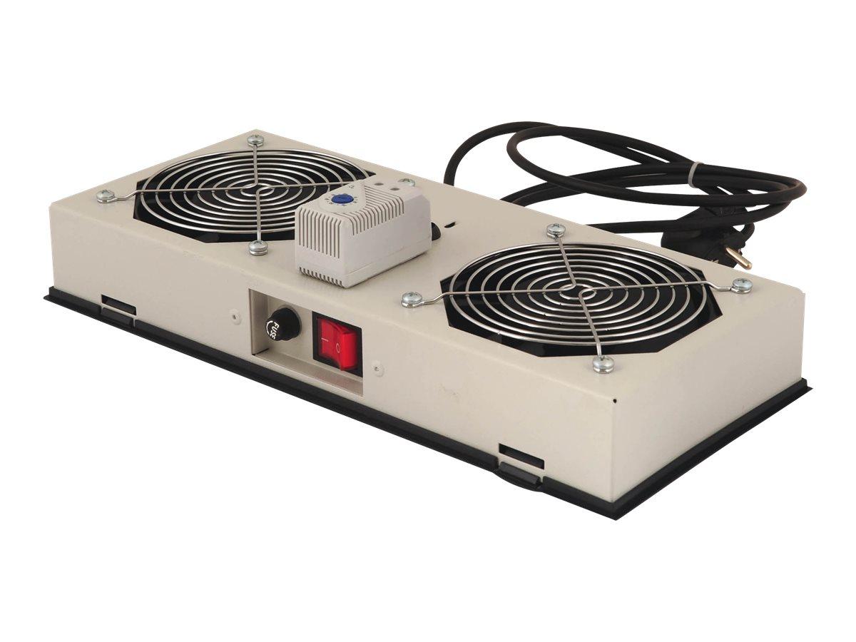 DIGITUS Professional DN-19 FAN-2-WM-I - Rack-Lüftereinsatz - mit 2 Ventilatoren, Thermostat - Wechselstrom 220/240 V (19