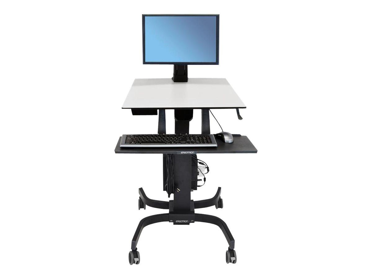 Ergotron WorkFit-C Single LD Sit-Stand Workstation - Sitz-/ Stehtisch - mobil - Büro - rechteckig - Grau