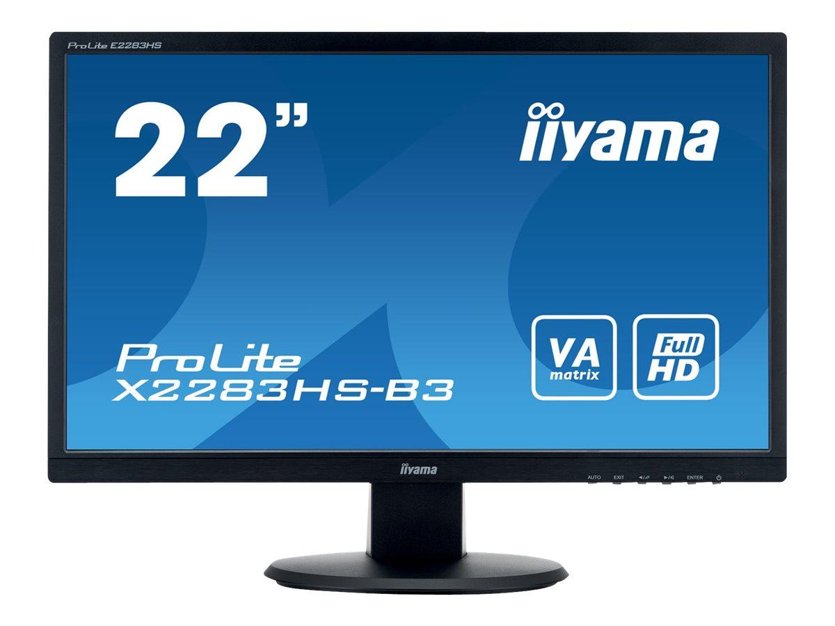 iiyama ProLite X2283HS-B3 - LED-Monitor - 55.9 cm (22