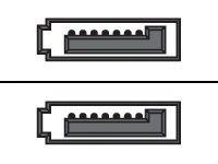 Supermicro - SATA-Kabel - SATA (W) bis SATA (W) - 55 cm