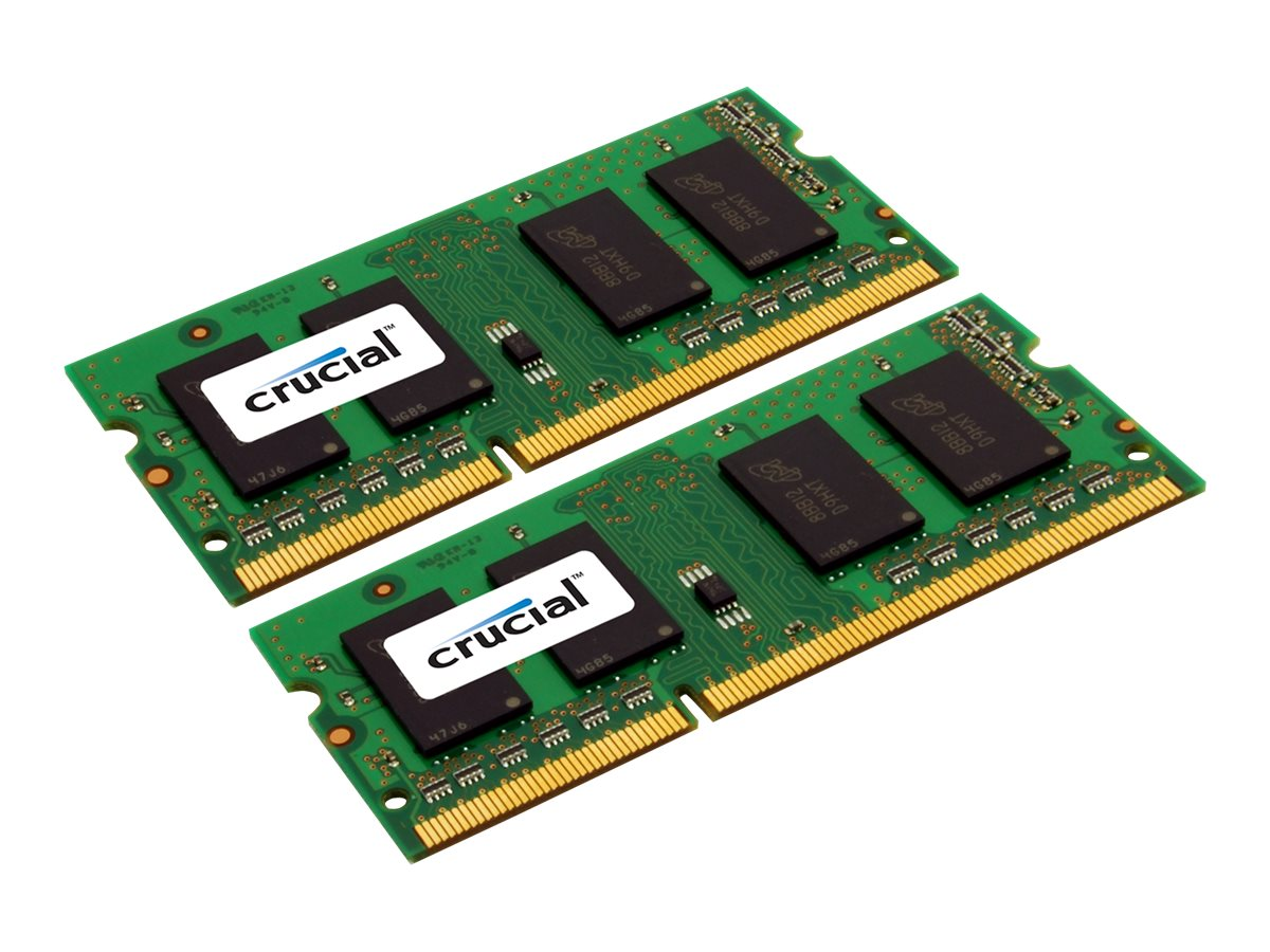 Crucial - DDR3L - 8 GB: 2 4 GB - SO DIMM 204-PIN - 1600 MHz / PC3-12800 - CL11
