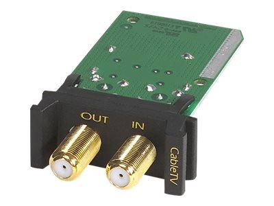 APC - Überspannungsschutz (Rack - einbaufähig) - 1U - Schwarz