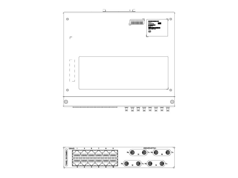 Cisco Single - Patch Panel - E1 x 12, DS-3 x 4 - für P/N: NCS4201-SA, NCS4202-SA