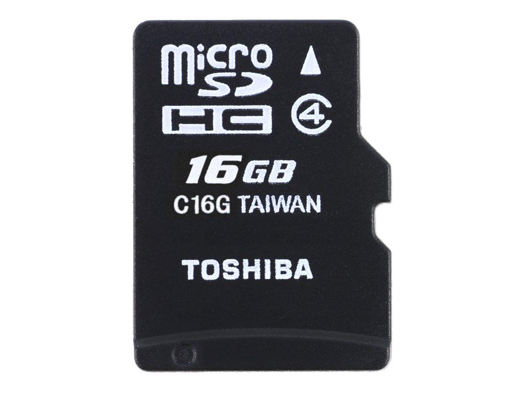 Toshiba High Speed M102 - Flash-Speicherkarte (microSDHC/SD-Adapter inbegriffen) - 16 GB - Class 4 - microSDHC