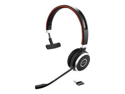Jabra Evolve 65 UC mono - Headset - On-Ear - konvertierbar - Bluetooth - kabellos