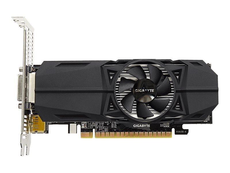Gigabyte GeForce GTX 1050 OC 2G - Grafikkarten - NVIDIA GeForce GTX 1050 - 2 GB GDDR5 - PCIe 3.0 x16 Low-Profile - DVI, 2 x HDMI