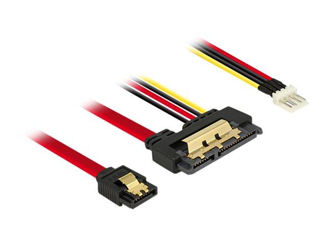 DeLOCK - SATA-Kabel - Serial ATA 150/300/600 - SATA Combo (R) bis 4-Pin-Mini-Stromversorgungsstecker, SATA - 30 cm - eingerastet