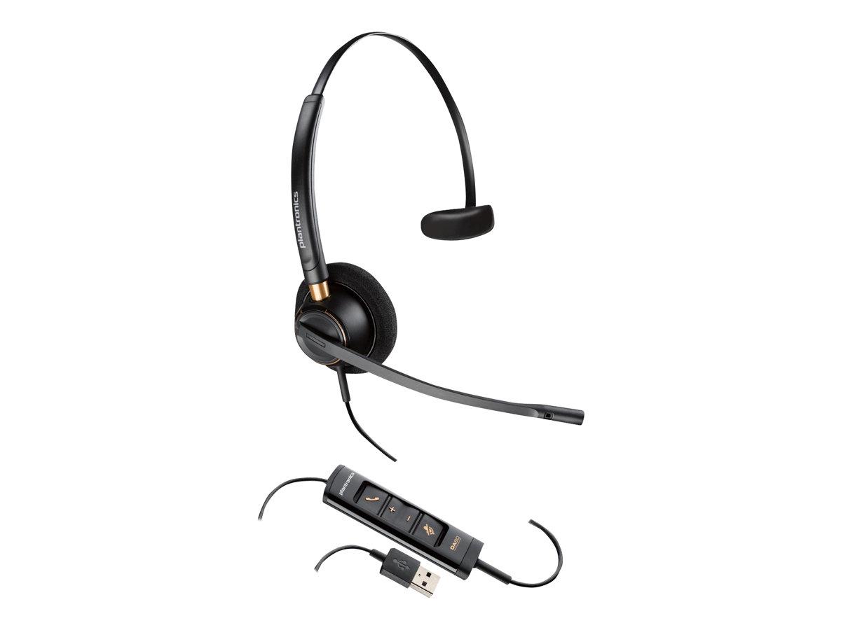 Plantronics EncorePro HW515 - Headset - On-Ear - kabelgebunden - USB