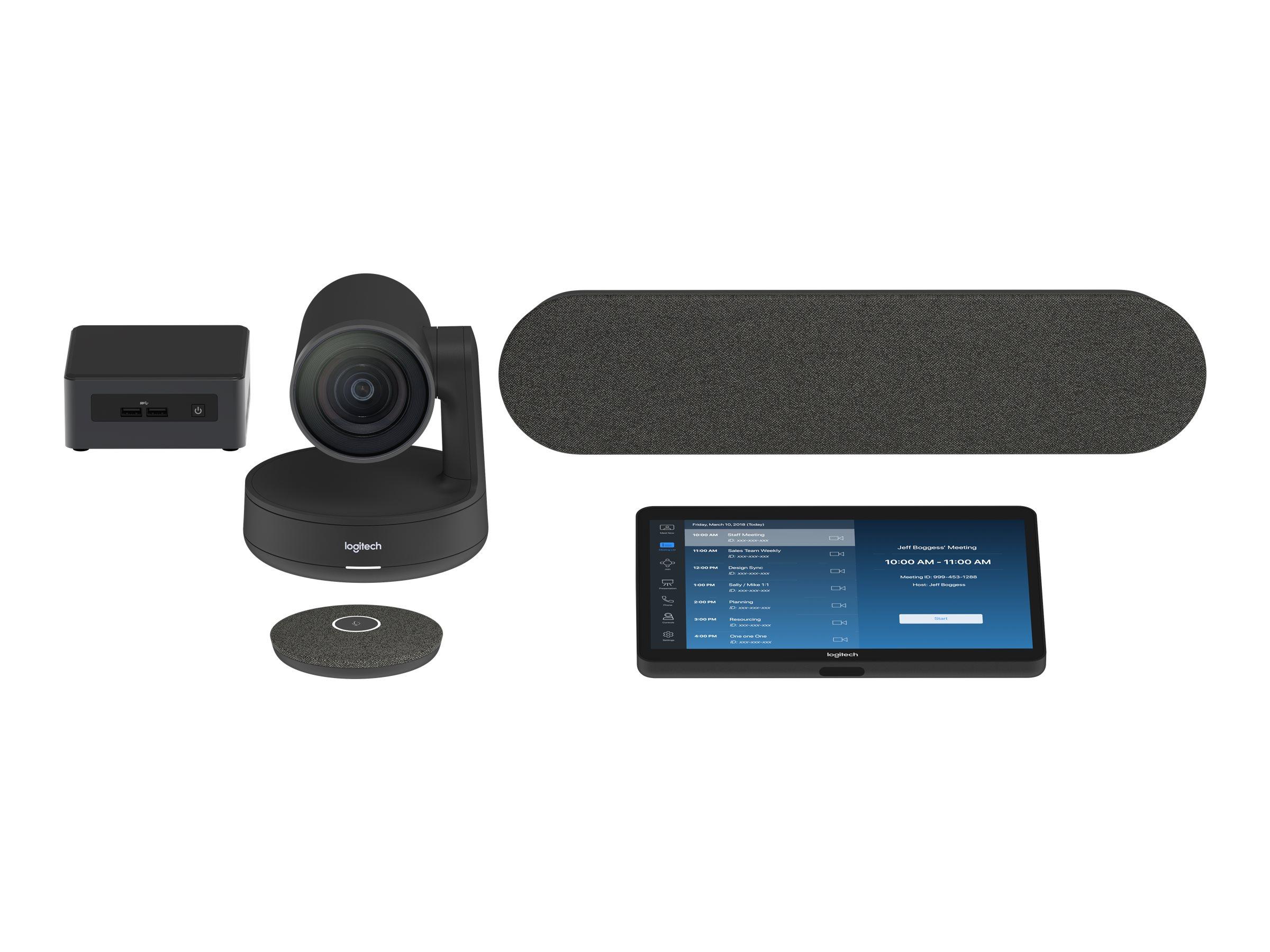 Logitech Tap Room for Zoom Rooms Medium - Kit für Videokonferenzen - mit Intel NUC (i5-8259U, 8GB RAM, 240GB SSD)