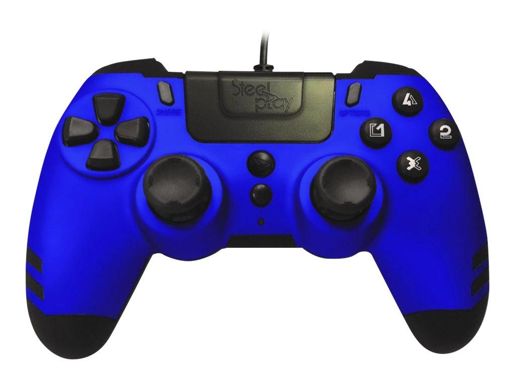 Steelplay MetalTech - Game Pad - kabelgebunden - Saphirblau - für PC, Sony PlayStation 3, Sony PlayStation 4