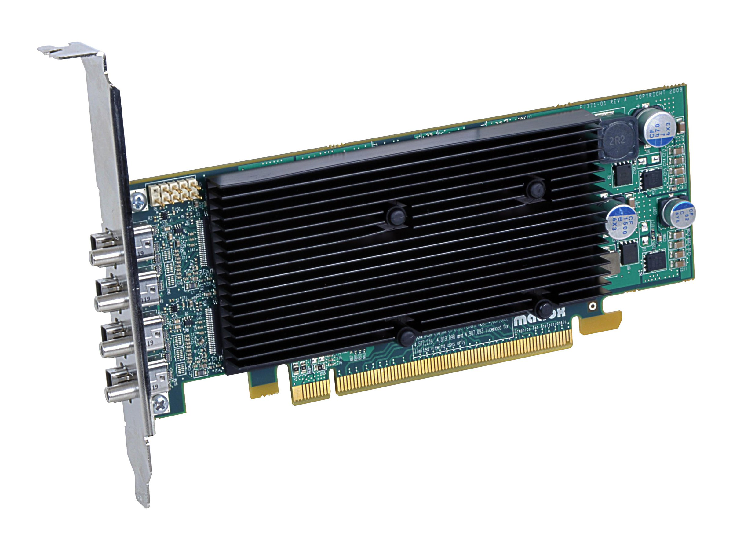 Matrox M9148 - Grafikkarten - M9148 - 1 GB - PCIe x16 Low-Profile - 4 x Mini DisplayPort