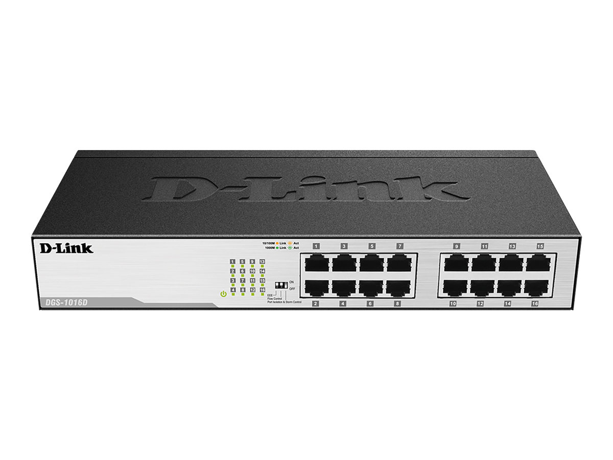 D-Link DGS 1016D - Switch - 16 x 10/100/1000 - Desktop