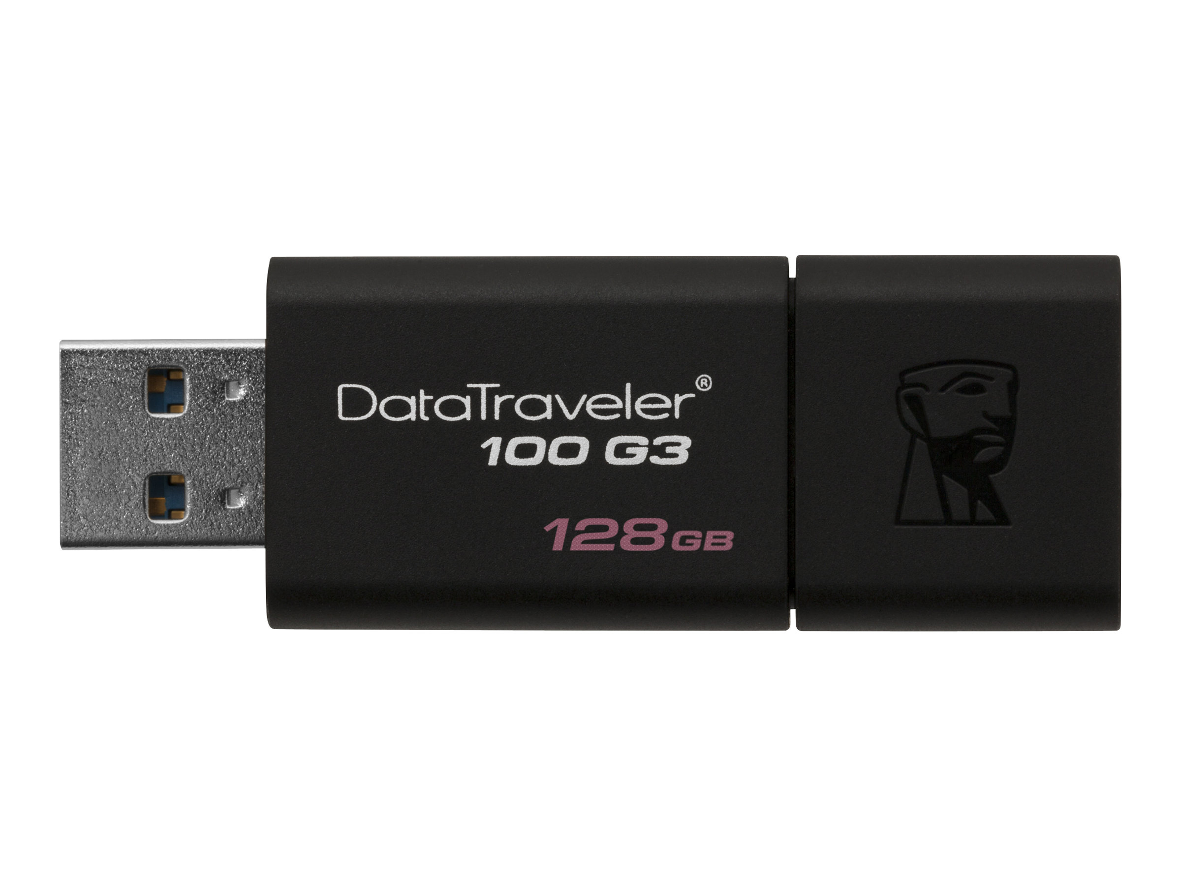 Kingston DataTraveler 100 G3 - USB-Flash-Laufwerk - 128 GB - USB 3.0 - Schwarz