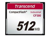 Transcend CF300 Industrial - Flash-Speicherkarte - 512 MB - 300x - CompactFlash