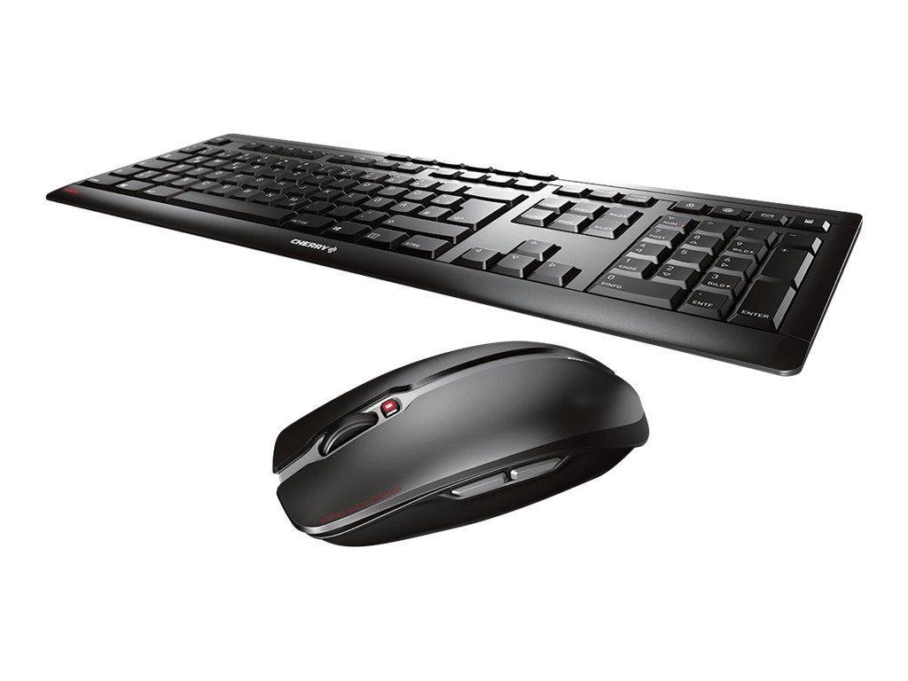 CHERRY STREAM DESKTOP - Tastatur-und-Maus-Set - kabellos - 2.4 GHz - US mit Euro-Symbol - Tastenschalter: CHERRY SX