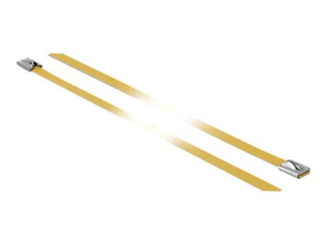 DeLOCK - Kabelbinder - 50 cm - Gelb (Packung mit 10)