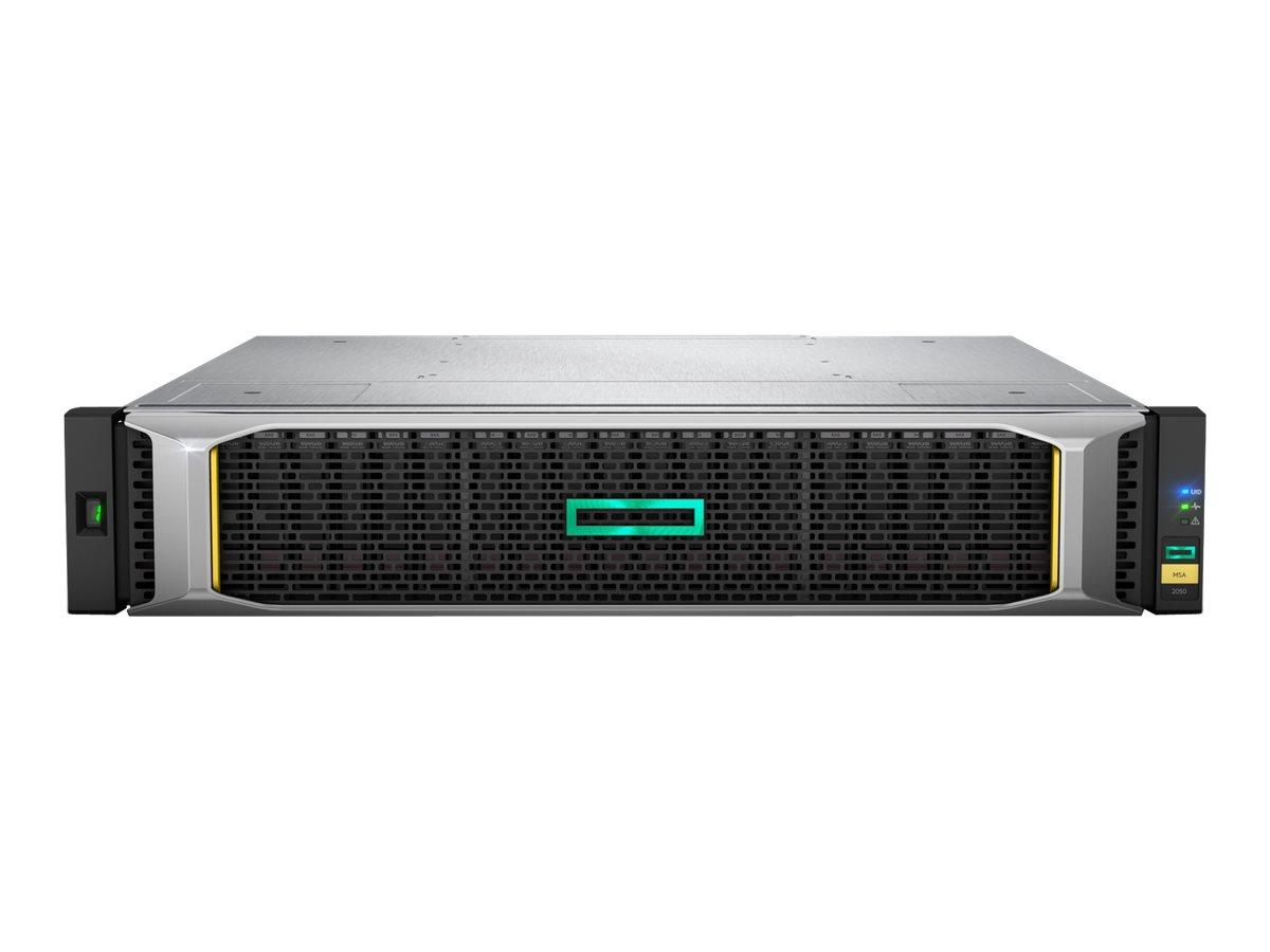 HPE Modular Smart Array 2052 SAN Dual Controller SFF Storage - Festplatten-Array - 1.6 TB - 24 Schächte (SAS-2) - SSD 800 GB x 2