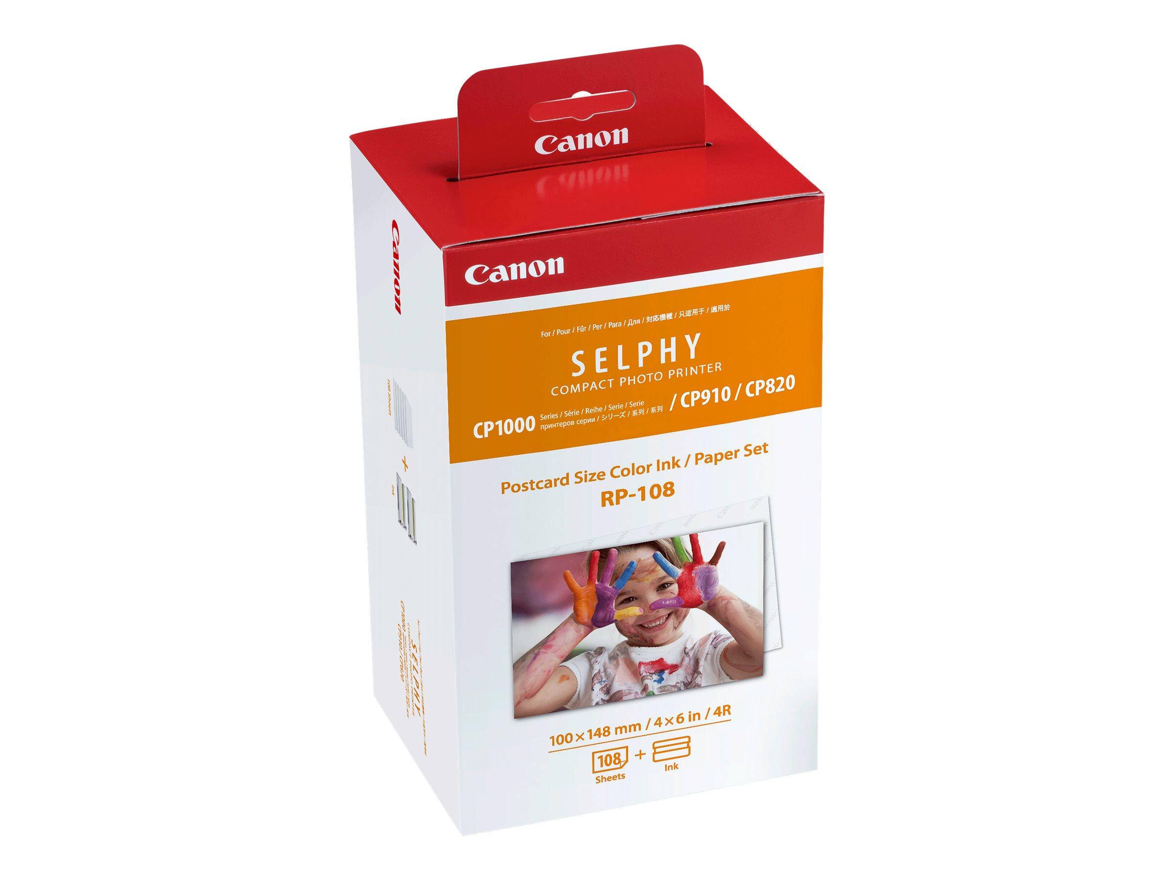 Canon RP-108 - 2er-Pack - Farbbandkassetten- und Papier-Kit - für SELPHY CP1000, CP1200, CP1300, CP820, CP910