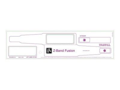 Zebra Z-Band Fusion - Polypropylen (PP) - Klebstoff - Rot - 70 x 22 mm 1000 Stck. (5 Rolle(n) x 200) Erwachsenenarmbänder