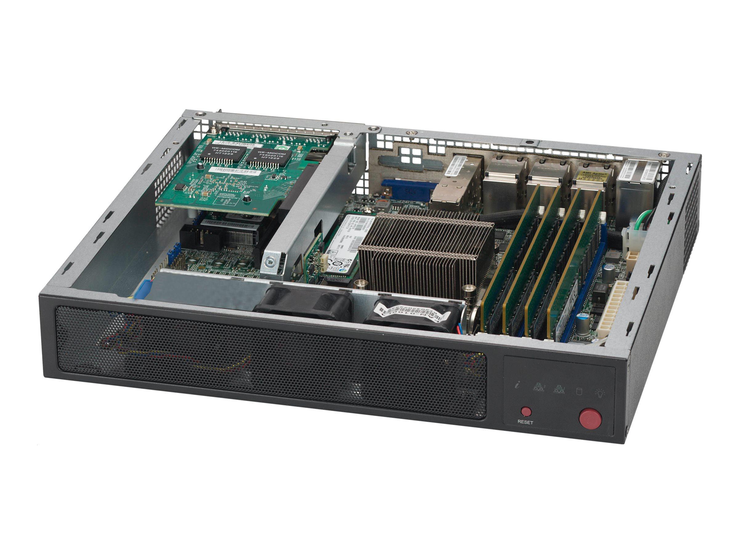 Supermicro SCE300 - Rack - einbaufähig - 1U - FlexATX - Schwarz