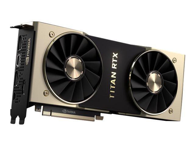 PNY TITAN RTX - Grafikkarten - TITAN RTX - 24 GB GDDR6 - PCIe 3.0 x16 - HDMI, 3 x DisplayPort, USB-C