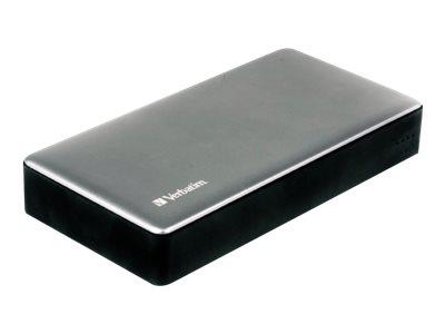 Verbatim - Powerbank - 20000 mAh - Quick Charge 3.0 - 2 Ausgabeanschlussstellen (USB) - Silber, Metall
