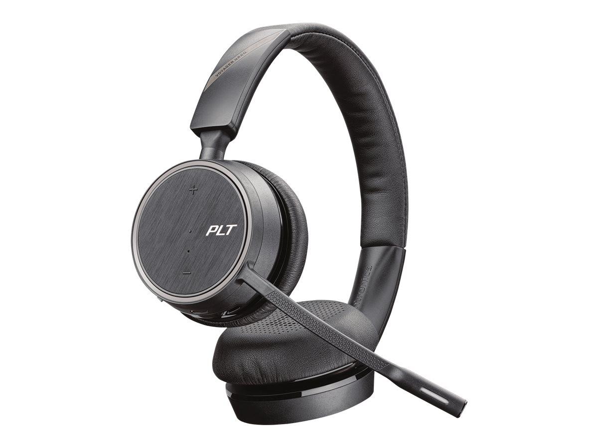 Poly Voyager 4220 Office - Zwei-Wege-Basis - Office Series - Headset - On-Ear - Bluetooth