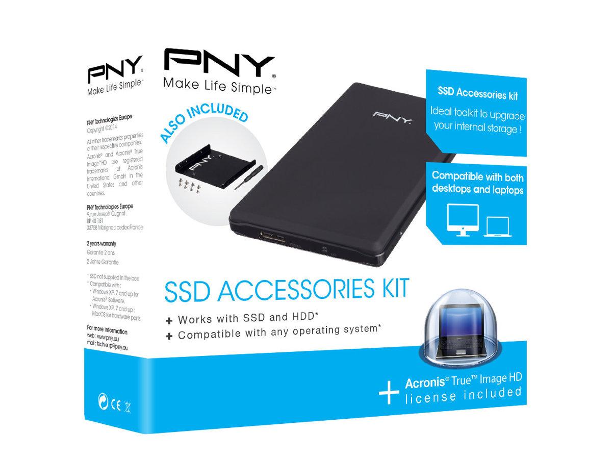 PNY SSD Accessories Kit - Speichergehäuse - 2.5