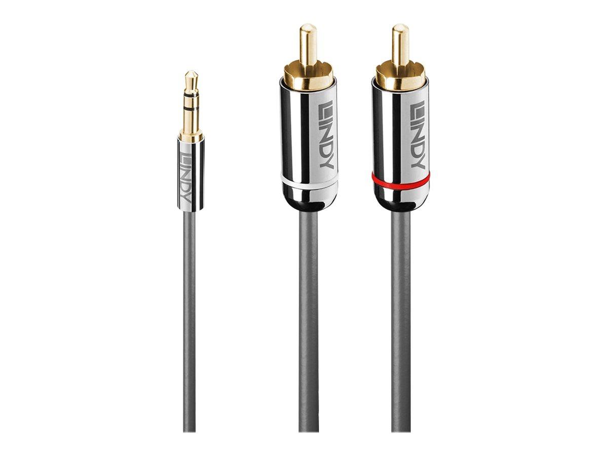 Lindy Cromo Line - Audiokabel - Stereo Mini-Klinkenstecker (M) bis RCA (M) - 3 m - Anthrazit - rund