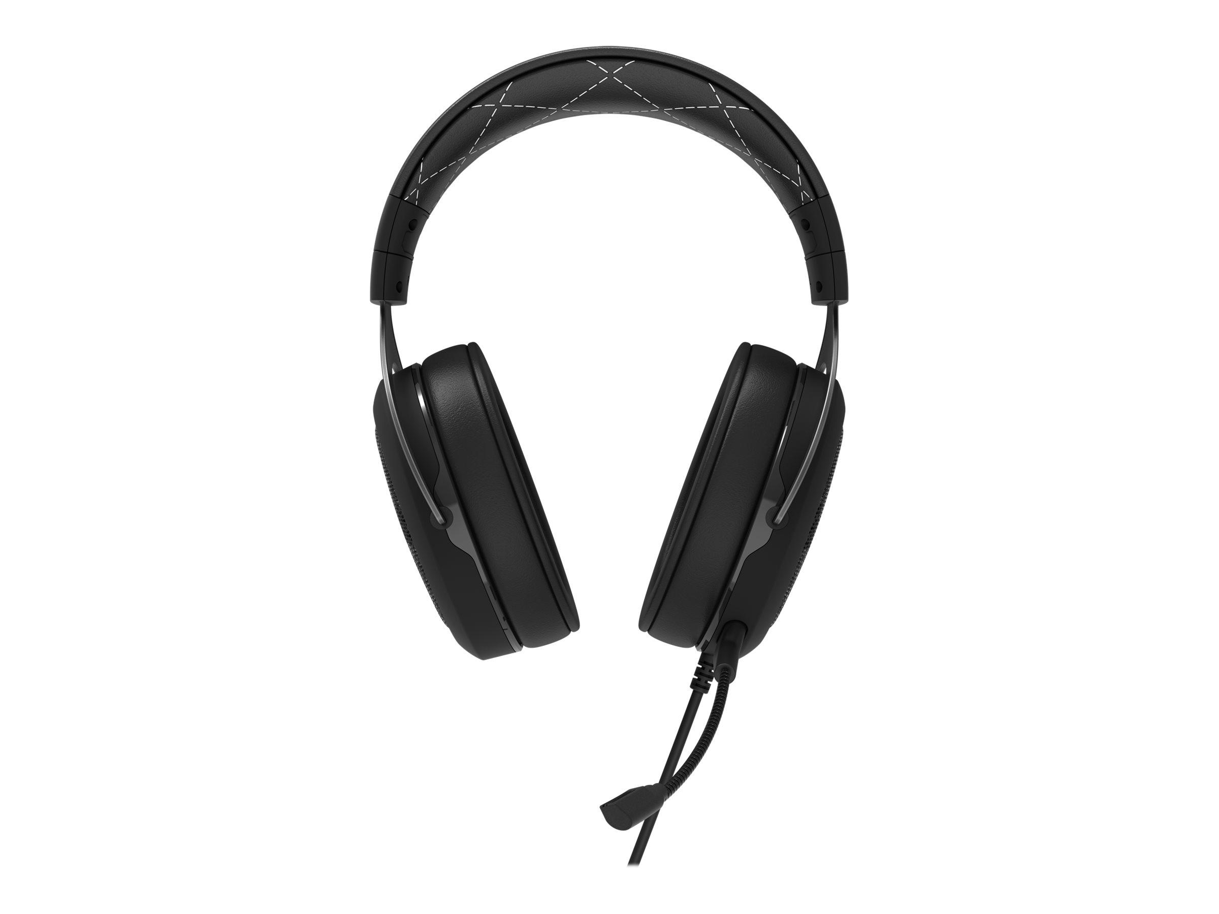 CORSAIR Gaming HS60 SURROUND - Headset - Full-Size - kabelgebunden - USB, 3,5 mm Stecker - weiss