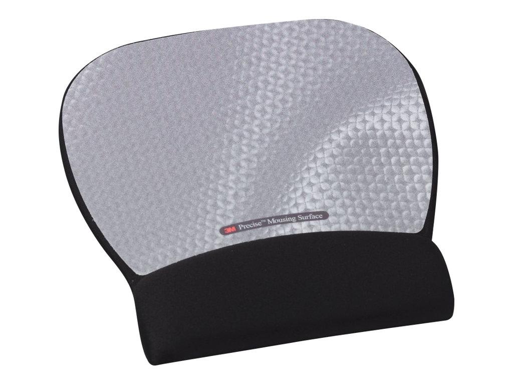 3M Precise Mousing Surface with Gel Wrist Rest MW311MX - Mauspad mit Handgelenkpolsterkissen - Silber